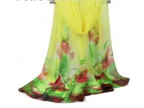 Ewena žlutý šátek 160x50 cm