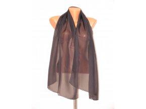 Šátek dlouhy jednobarevný 155x65 cm černý