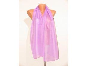 Šátek dlouhy jednobarevný 155x65 cm fialový