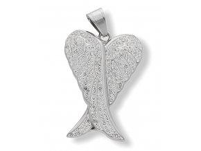 Přívěsek andělské křídlo DUO chirurgická ocel s řetízkem  + dárkové balení