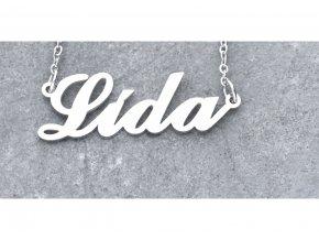 Přívěsek jméno Lida s řetízkem  + dárkové balení