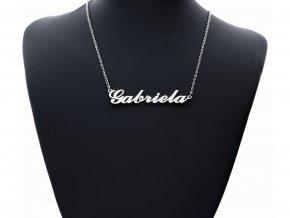 Přívěsek jméno  Gabriela s řetízkem + dárkové balení