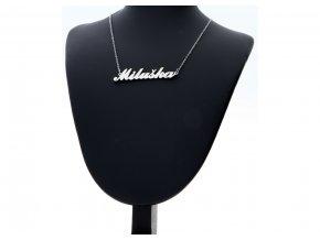 Přívěsek jméno Miluška s řetízkem + dárkové balení