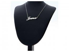 Přívěsek jméno  Jana s řetízkem  + dárkové balení