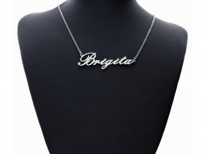 Přívěsek jméno Brigita s řetízkem + dárkové balení
