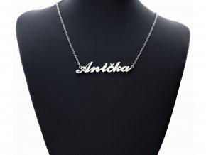 Přívěsek jméno  Anička s řetízkem + dárkové balení