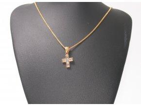 Přívěsek křížek s řetízkem GOLD  + dárkové balení