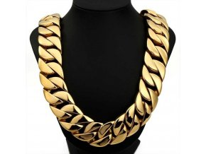 30mm golden cuban link curb chain