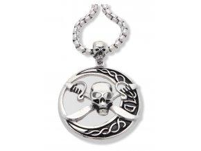 Pirátská lebka, přívěsek s řetízkem  + dárkové balení