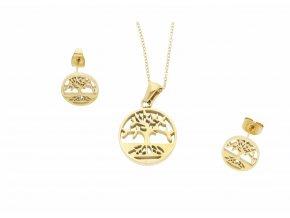 Souprava strom života Gold  + dárkové balení