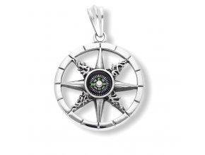 Přívěsek funkční kompas -přívěsek z chirurgické oceli  + dárkové balení