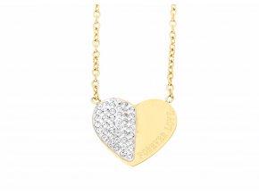 Řetízek s přívěskem srdce Gold / Silver  + dárkové balení