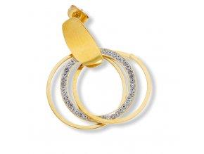 Ocelové náušnice Gold  + dárkové balení