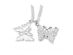 Řetízek s přívěskem motýl  + dárkové balení