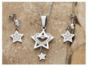 Souprava z chirurgické oceli hvězdička  + dárkové balení