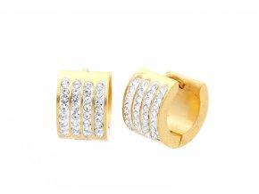 Náušnice kroužky z oceli Gold  + dárkové balení