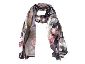 Šátek dlouhý umělé hedvábí oboustranný