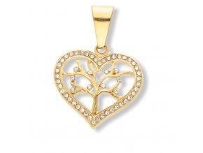 Přívěsek srdce Gold  + dárkové balení