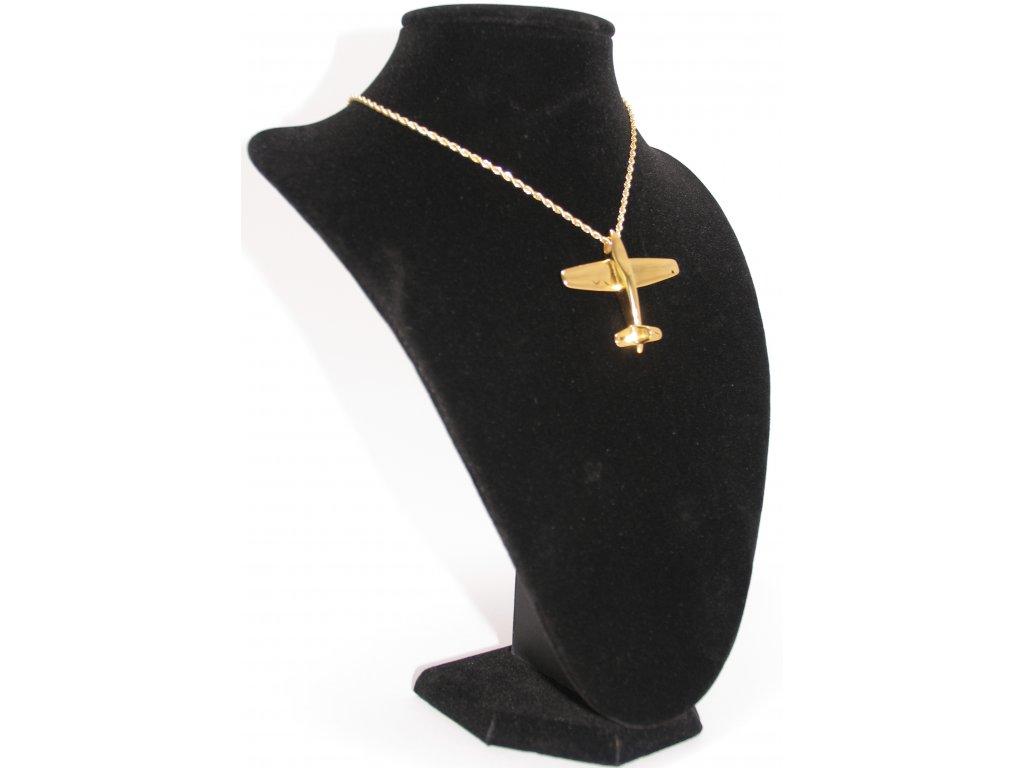 Ewena Ocelový přívěšek - letadlo gold