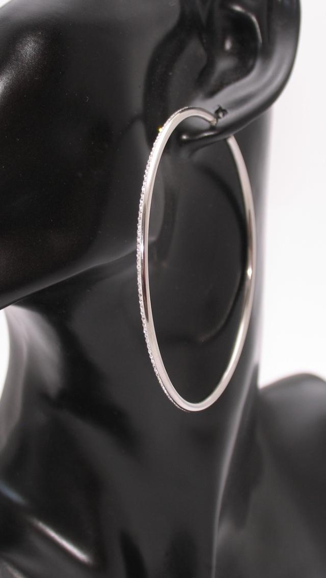 Ewena Ocelové náušnice kruhy 7 cm