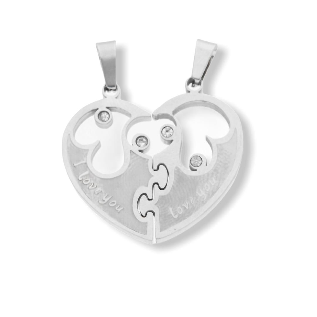 Ewena Přívěsek srdce pro dva + dárkové balení