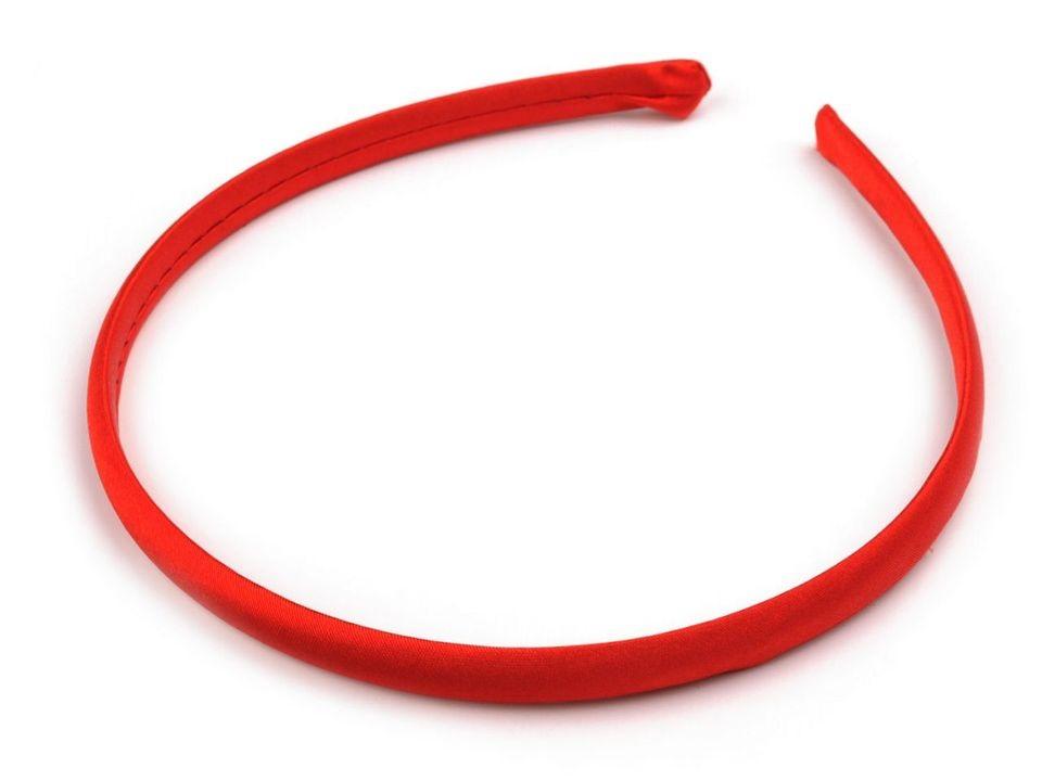 Saténová čelenka Barva: Červená