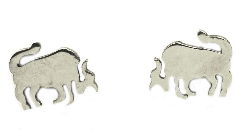 Náušnice z oceli znamení různé druhy Volba znamení: Býk 21. 4. až 21. 5.