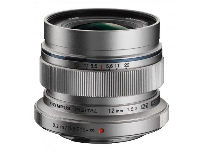 Olympus 12mm f/2 ED strieborný