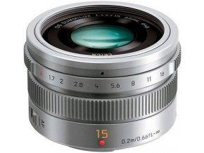 Panasonic Leica DG Summilux 15mm f/1.7 Aspherical strieborný