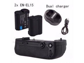 Batériový grip Meike MB-D15 (+ 2x EN-EL15 + nabíjačka) pre Nikon D7100 / D7200