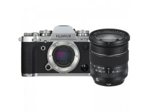 FUJIFILM X T3 Mirrorless Digital Camera with 16 80mm Lens Kit (Silver) (1)