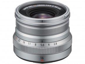 Fujifilm XF 16mm f/2.8 R WR strieborný