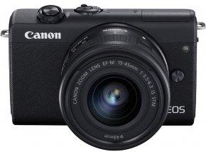 Canon EOS M200 + EF-M15-45mm f/3.5-6.3 IS STM čierny