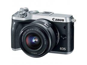 Canon EOS M6 Mark II strieborný + EF-M 15-45mm f/3.5-6.3 IS STM