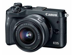 Canon EOS M6 čierny + EF-M 15–45 mm