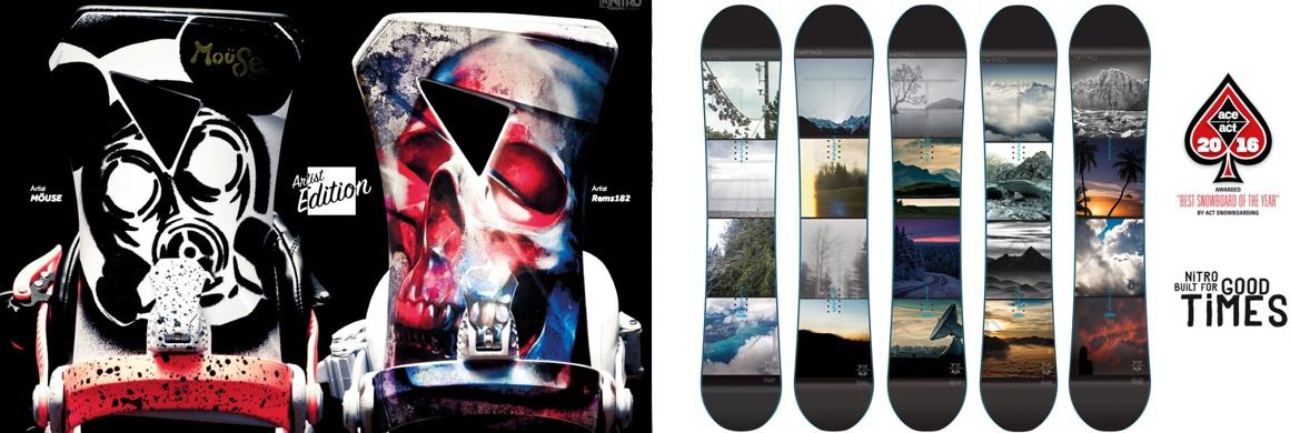 Noivá kolekce Nitro Snowboards