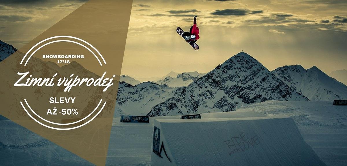 Zimní výprodej snowboardy