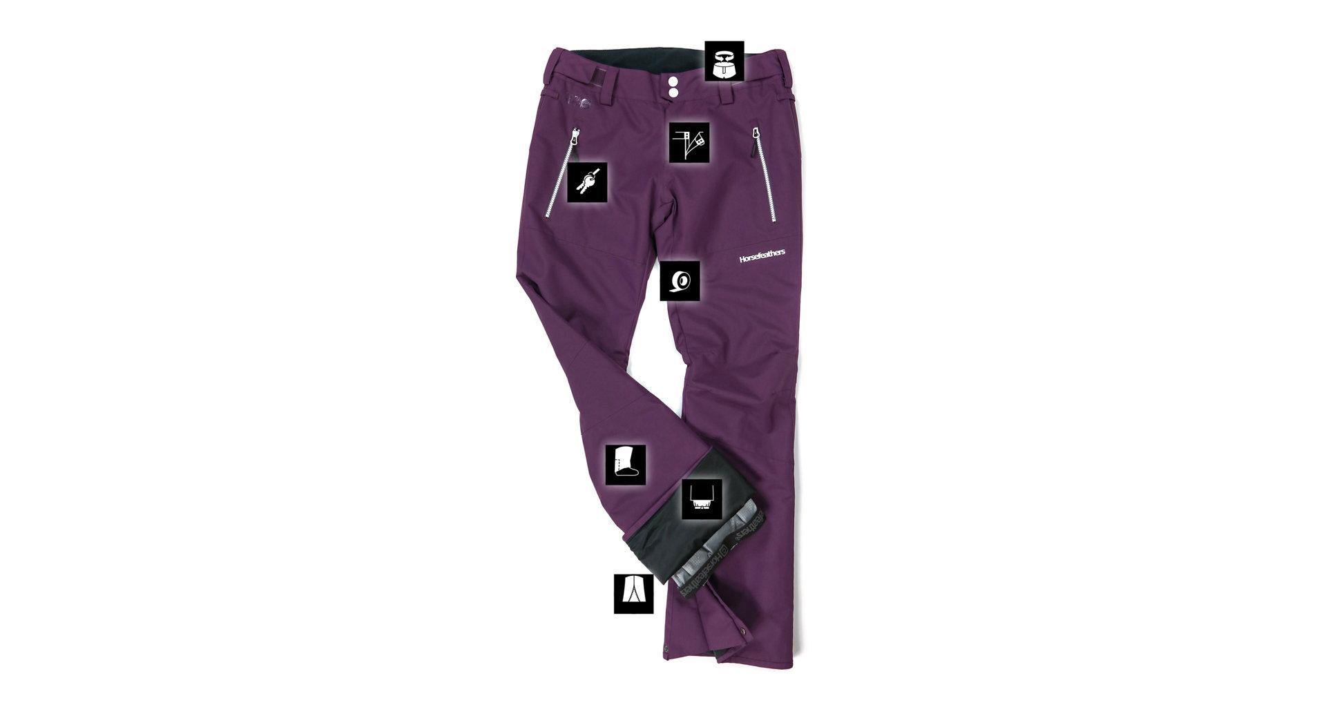 horsefeathers-damske-kalhoty-na-snowboard-avril-Grape-20-21-exilshop