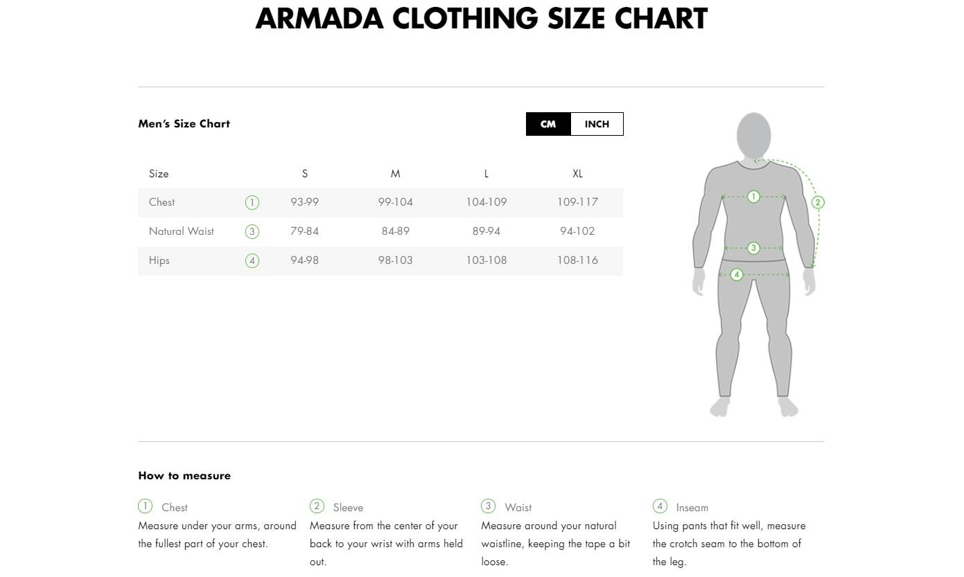 armada-velikostni-tabulka-bundy-kalhoty