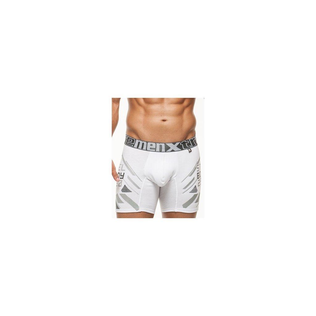 Xtremen boxerky Printed Large Boxer 01 White