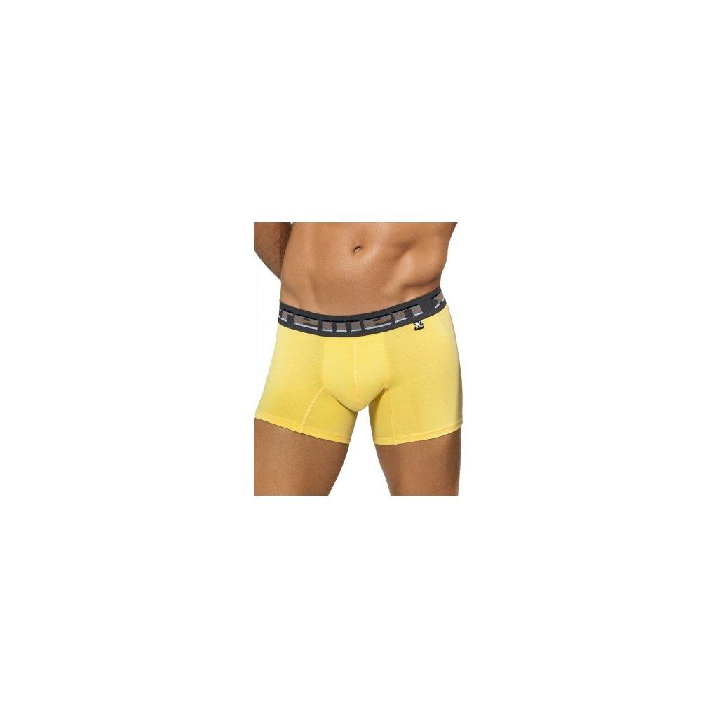 Pánské boxerky Xtremen Boxer Color Yellow