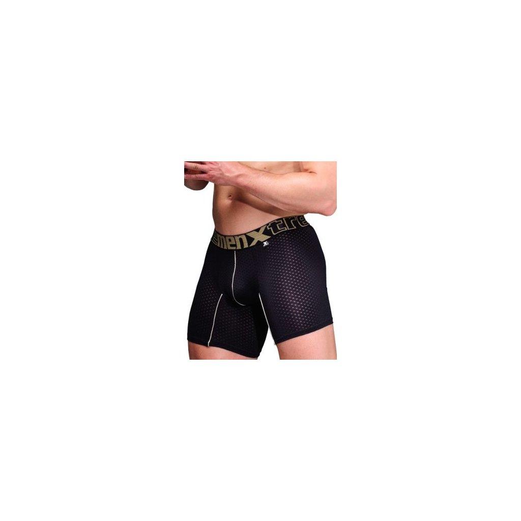 Pánské boxerky Xtremen Full Mesh Sports Boxer Black