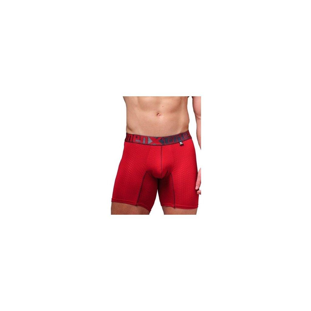 Pánské boxerky Xtremen Full Mesh Sports Boxer Red