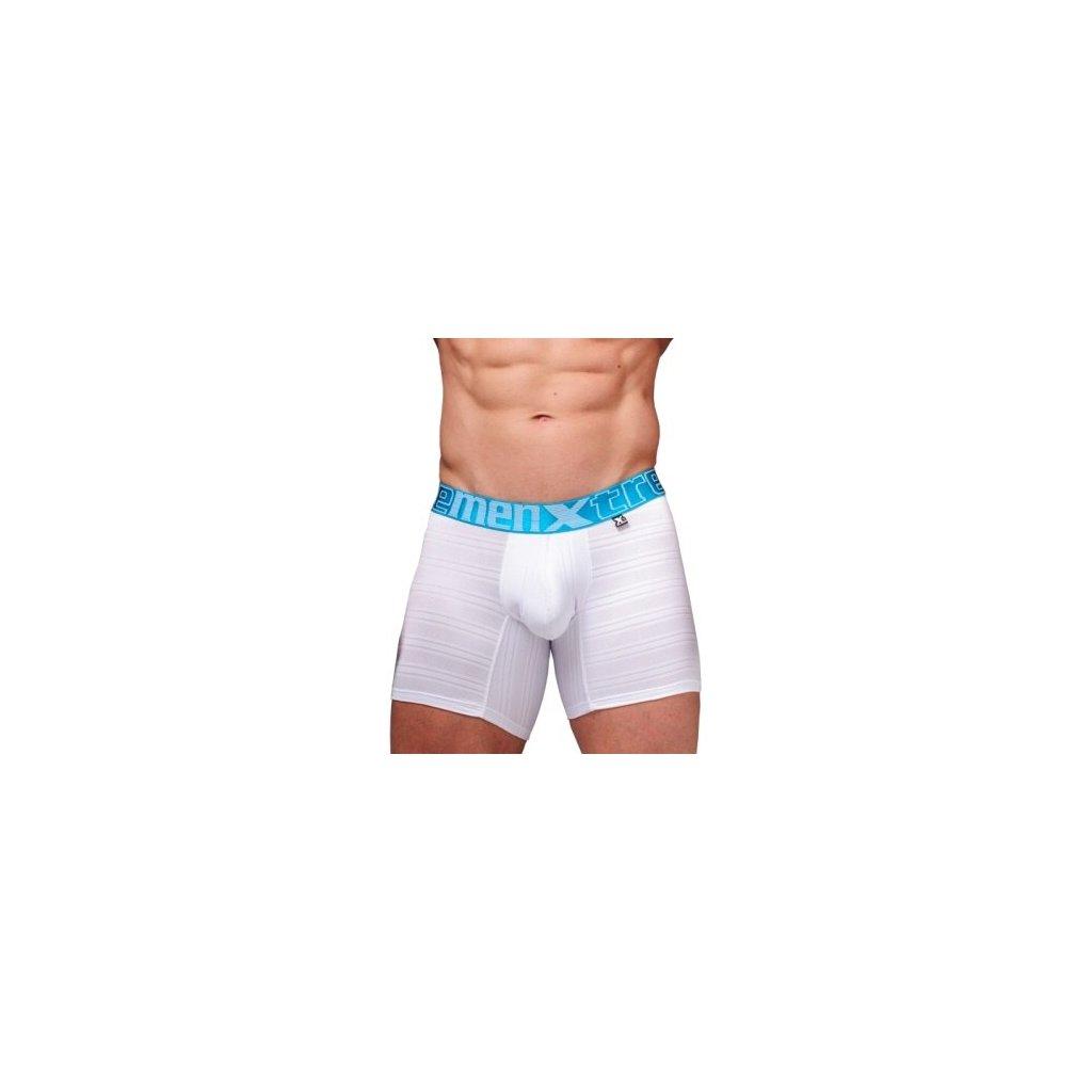 Pánské boxerky Xtremen Microfiber Boxer Jacquard White