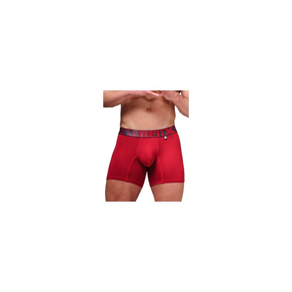 Pánské boxerky Xtremen Microfiber Boxer Perfored Red