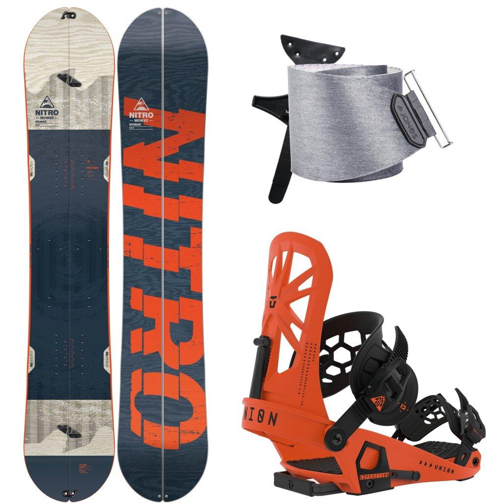 Splitboard komplet Nitro Nomad + Union Expedition Orange + Jones Nomad 19 20