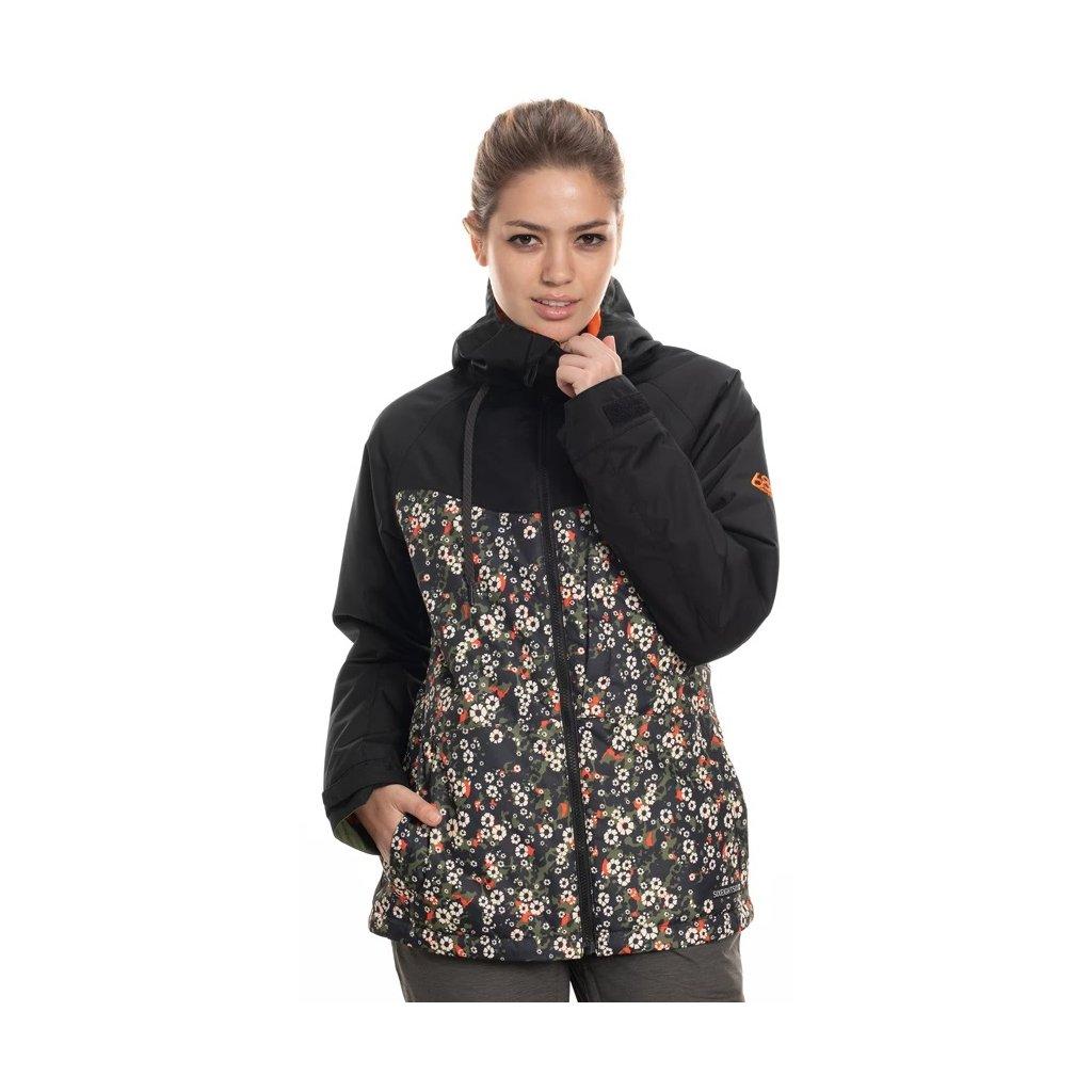 686 dámská zimní bunda Athena Jacket Black Speckle Colorblock head