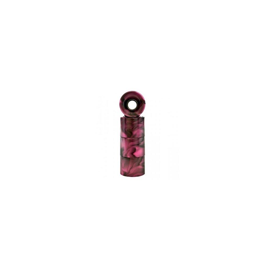 Penny kolečka Wheels 59mm/78a Swirl black/pink 4ks