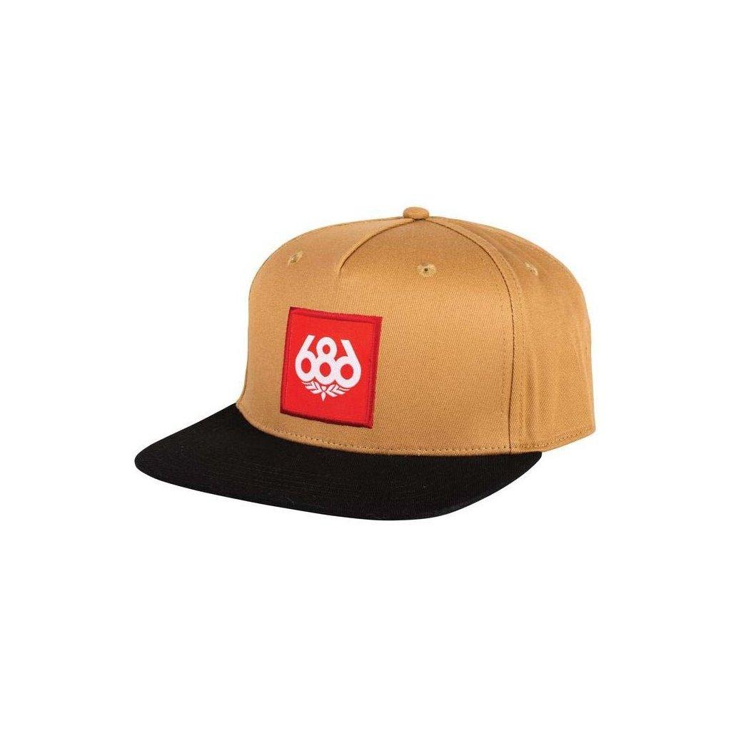 686 ksiltovka knockout snapback hat khaki 19 20