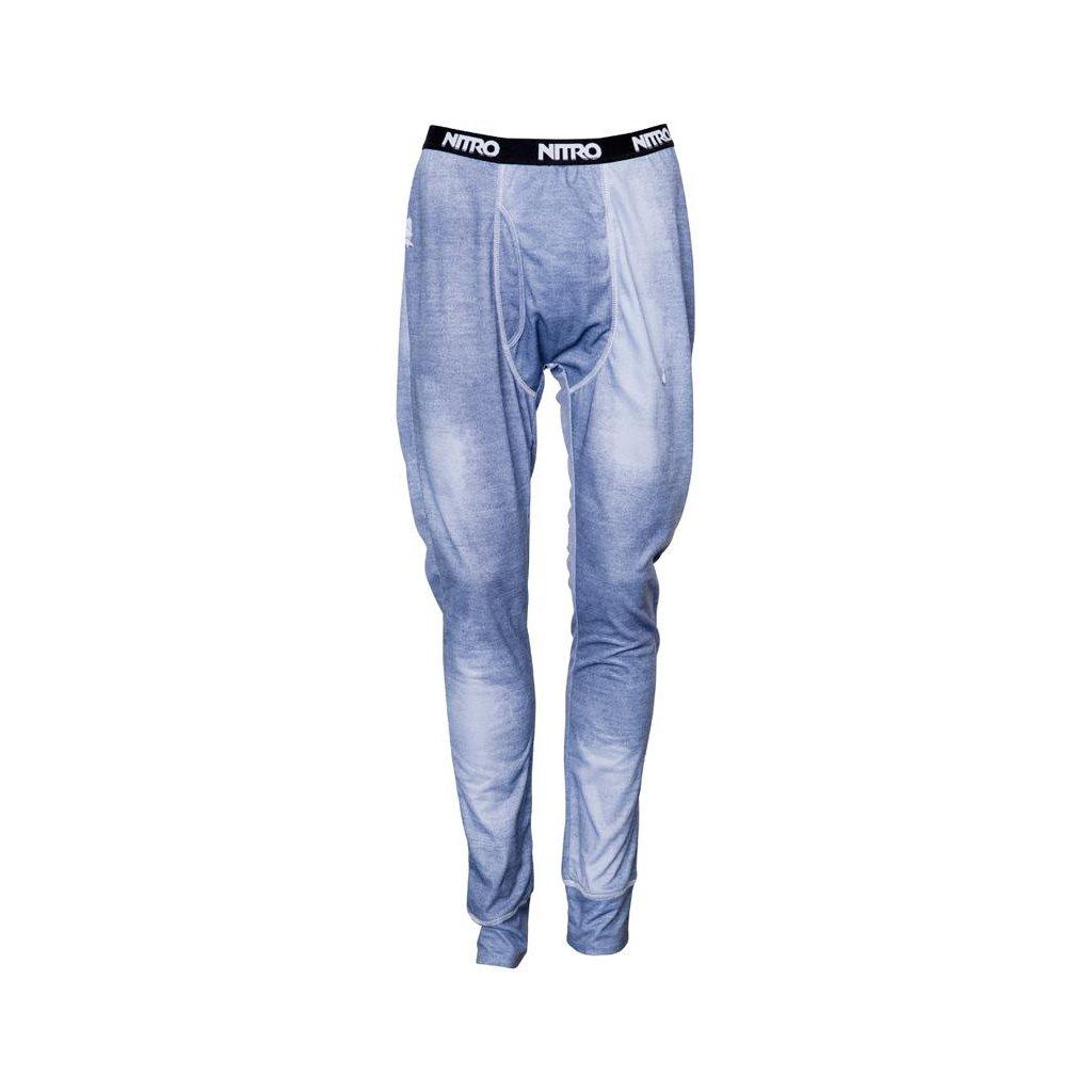 Nitro spodky 1ST LAYER LONG JONS PANTS denim print  + doručení do 24 hod.